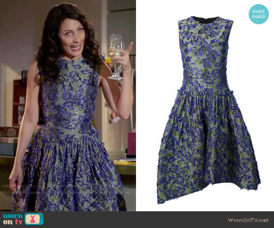 Jourden Quilted Dress worn by Lisa Edelstein on GG2D