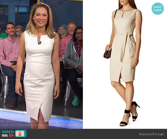 Belted Pencil Dress by Karen Millen worn by Ginger Zee on Good Morning America