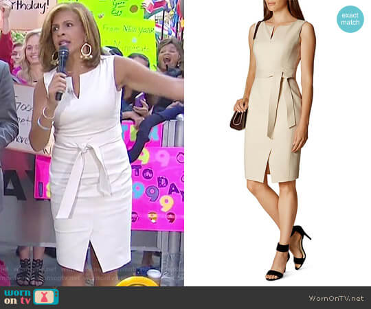 Belted Pencil Dress by Karen Millen worn by Hoda Kotb on Today
