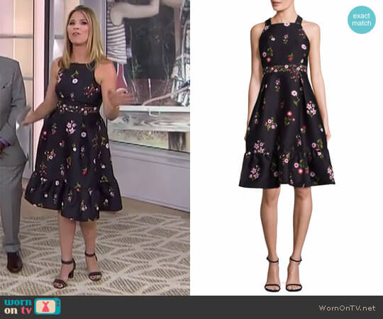 In Bloom Printed Fit-&-Flare Knee-Length Dress by Kate Spade worn by Jenna Bush Hager  on Today