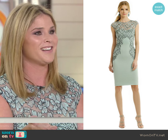 Floral Frame Sheath by Lela Rose worn by Jenna Bush Hager on Today