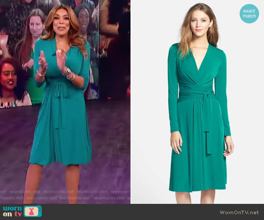 Faux Wrap Jersey Dress by MICHAEL Michael Kors worn by Wendy Williams on The Wendy Williams Show