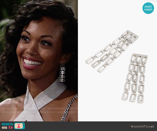 Madewell After Midnight Earrings worn by Mishael Morgan on The Young & the Restless