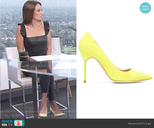 BB 105 Pumps by Manolo Blahnik worn by Catt Sadler on E! News
