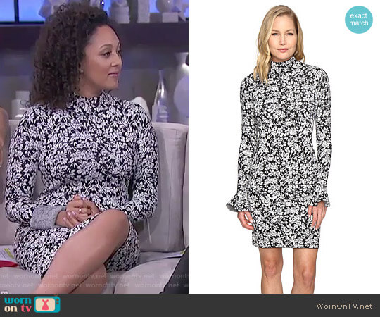 Floral Bell Sleeve Dress by MICHAEL Michael Kors worn by Tamera Mowry on The Real