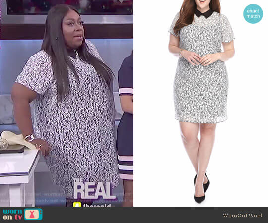 Lace T-Shirt Dress by MICHAEL Michael Kors worn by Loni Love on The Real