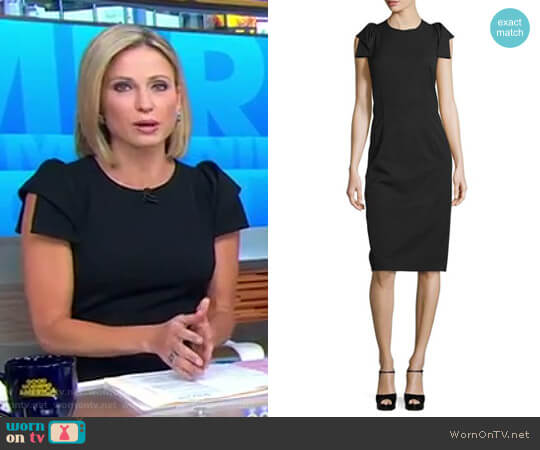 Origami-Sleeve Sheath Dress by Michael Kors worn by Amy Robach on Good Morning America