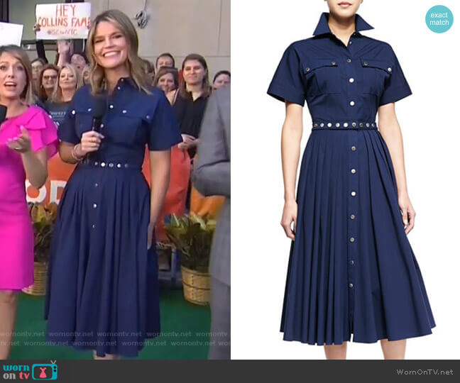 Utility Snap-Front Shirtdress by Michael Kors worn by Savannah Guthrie (Savannah Guthrie) on Today