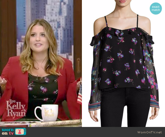 Dancing Cold Shoulder Top by Nanette Lepore worn by Sisanie on Live with Kelly and Ryan