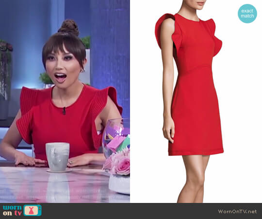William Ruffle Sleeve Dress by Opening Ceremony worn by Jeannie Mai on The Real