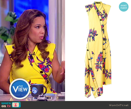 Asymmetric Floral Maxi Dress by Proenza Schouler worn by Sunny Hostin on The View