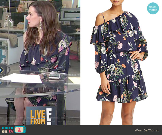 Clarisse Floral Print Silk Ruffle Dress by Parker worn by Melanie Bromley on E! News