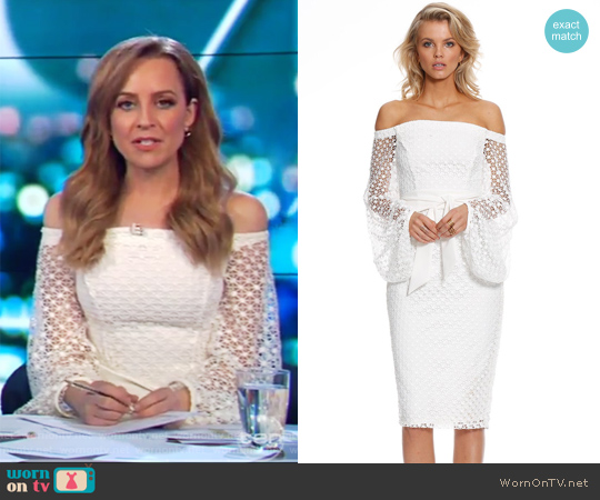 Floozy Sleeve Midi by Pasduchas worn by Carrie Bickmore  on The Project