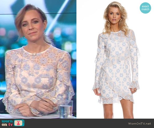 Serendipity Dress by Pasduchas worn by Carrie Bickmore on The Project