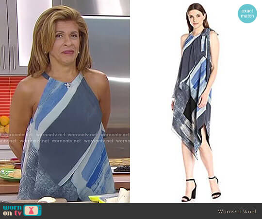 Brushed Square Printed Scarf Dress by Rachel Rachel Roy worn by Hoda Kotb on Today