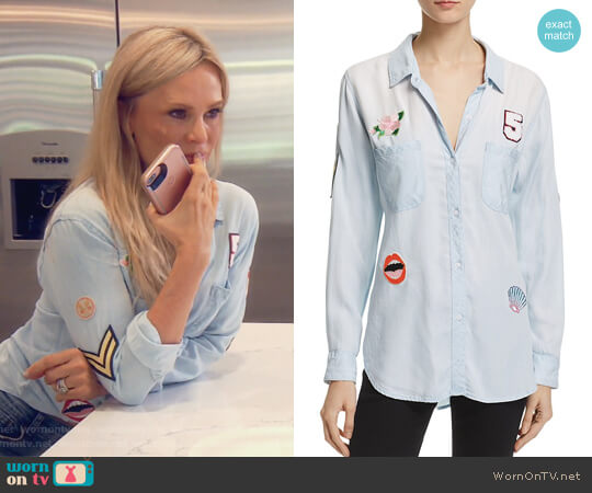 Carter Chambray Patch Button-Down Shirt by Rails worn by Tamra Judge on The Real Housewives of Orange County