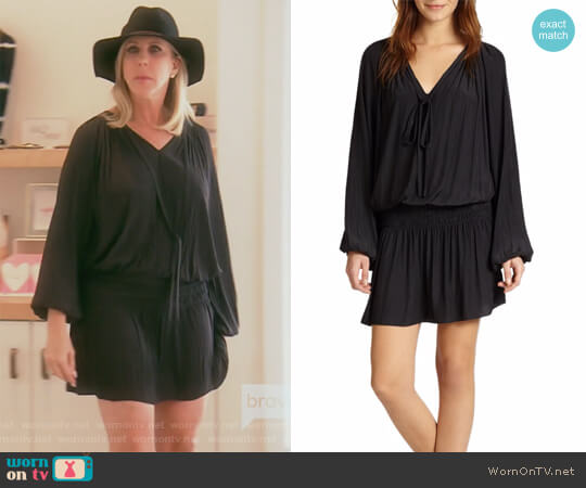 Paris Blouson-Top Dress by Ramy Brook worn by Vicki Gunvalson on The Real Housewives of Orange County