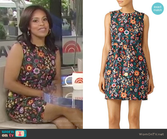 Fancy Flower Printed Dress by Red Valentino worn by Sheinelle Jones on Today