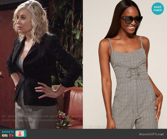 Reformation Warner Jumpsuit in Florence worn by Eileen Davidson on The Young & the Restless