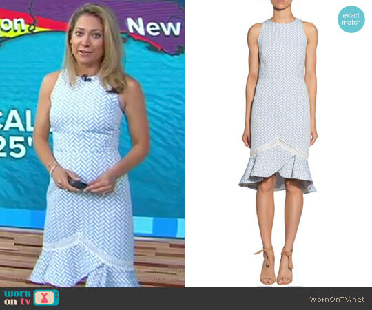 Webster Dress by Shoshanna worn by Ginger Zee on Good Morning America