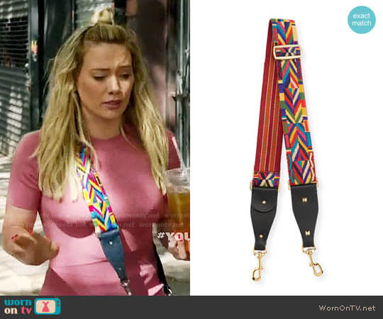 Valentino Garavani Southwestern Embroidered Guitar Strap for Handbag worn by Kelsey Peters on Younger