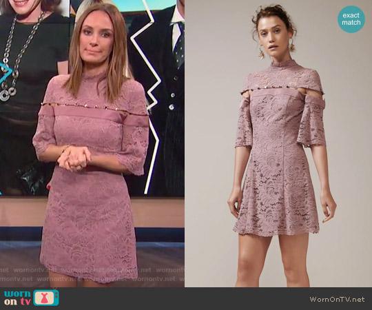 Star Crossed Lace Mini Dress by Keepsake worn by Catt Sadler (Catt Sadler) on E! News