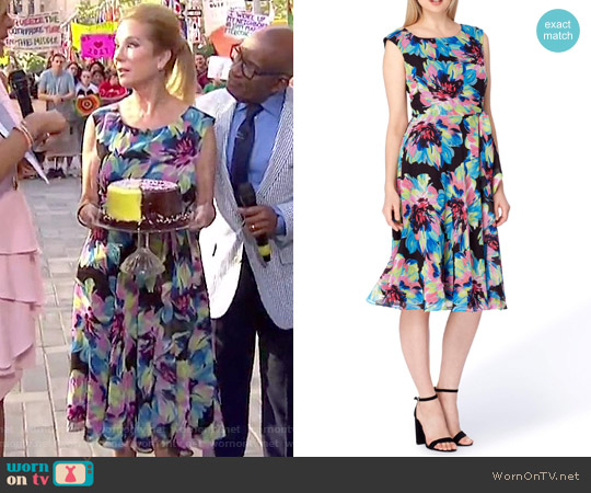 Floral Fit & Flare Dress by Tahari worn by Kathie Lee Gifford on Today