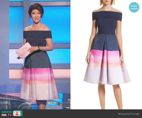 Hollii Off the Shoulder Dress by Ted Baker worn by Julie Chen on Big Brother
