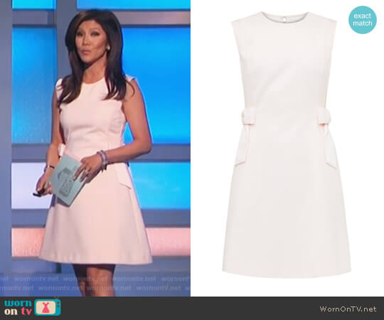 Meline Side Bow Shift Dress by Ted Baker worn by Julie Chen on Big Brother