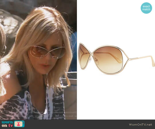 Miranda Sunglasses by Tom Ford worn by Vicki Gunvalson on The Real Housewives of Orange County