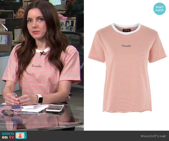 Romantic Stripe T-Shirt by Topsho worn by Melanie Bromley on E! News