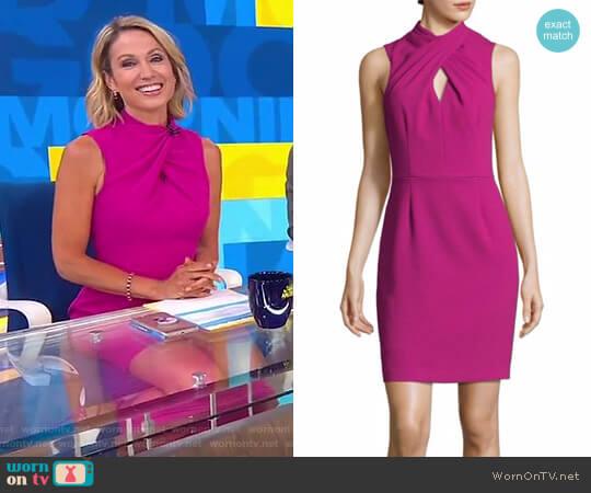 'Contessa' Keyhole Sheath Dress by Trina Turk worn by Amy Robach on Good Morning America