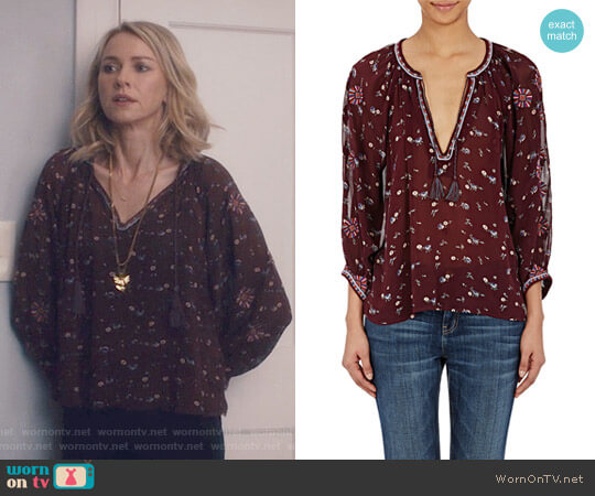 'Lida' Floral Blouse by Ulla Johnson worn by Naomi Watts  on Gypsy