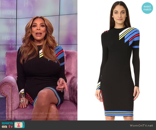 Long Sleeve Dress by Versace worn by Wendy Williams on The Wendy Williams Show