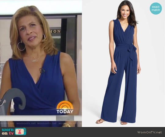 Faux Wrap Jersey Jumpsuit by Vince Camuto worn by Hoda Kotb on Today