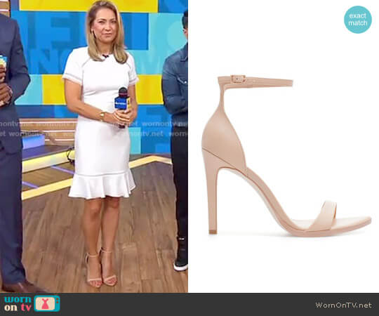 Leather High Heel Sandal by Zara worn by Ginger Zee on Good Morning America