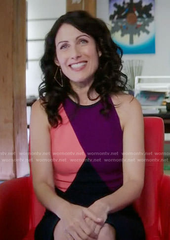 Abby's colorblock sleeveless dress on Girlfriends Guide to Divorce