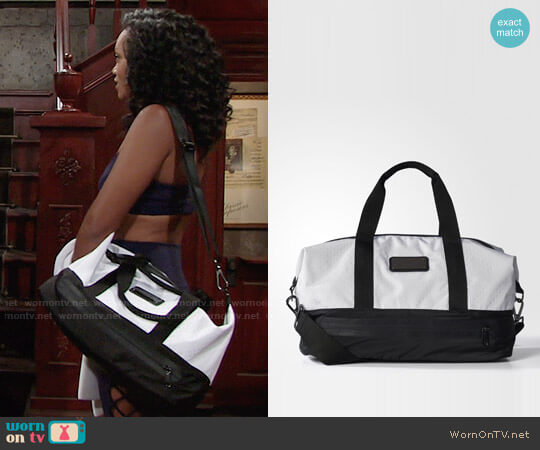 Adidas by Stella McCartney Small Gym Bag worn by Mishael Morgan on The Young & the Restless