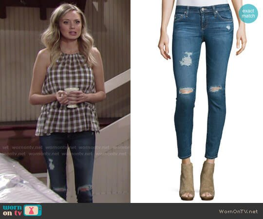 AG Jeans Legging Ankle Jeans in 11 Year Swap Meet worn by Melissa Ordway on The Young & the Restless