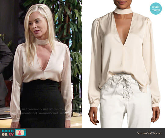 ALC Liza Blouse worn by Eileen Davidson on The Young & the Restless