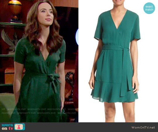 ALC Micah Dress in Pine worn by Ashleigh Brewer on The Bold & the Beautiful