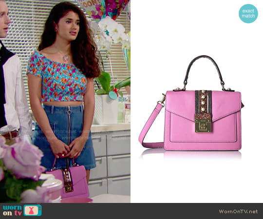 8a5cebf751a00c Aldo Whipster Bag in Pink worn by Darlita (Danube Hermosillo) on The Bold