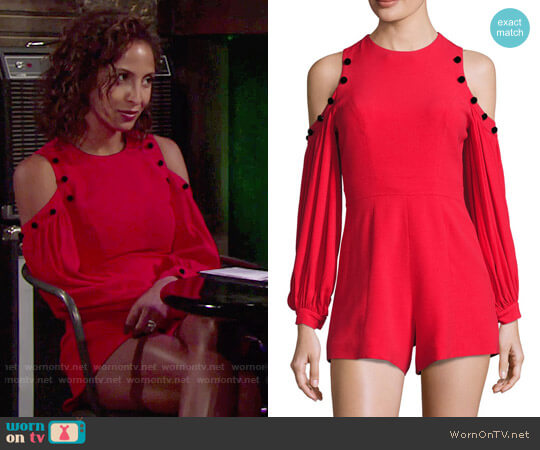 Alexis Asher Romper worn by Lily Winters (Christel Khalil) on The Young & the Restless