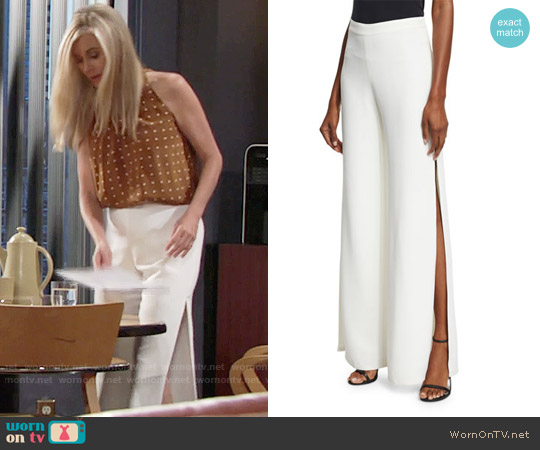 Alexis Brenda Pants in White worn by Eileen Davidson on The Young & the Restless