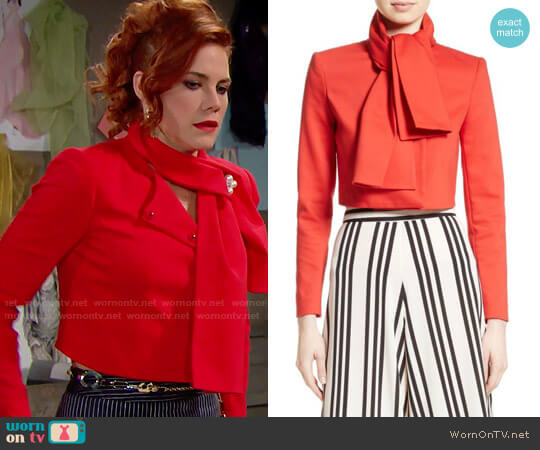 Alice + Olivia Adair Jacket worn by Courtney Hope on The Bold & the Beautiful