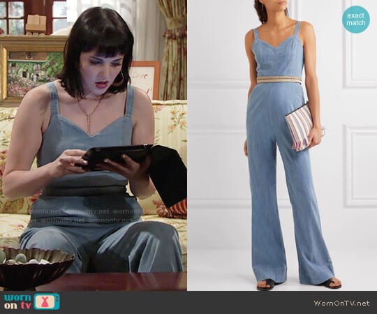 Alice + Olivia Cristal Jumpsuit worn by Cait Fairbanks on The Young & the Restless