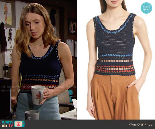 Alice + Olivia Dorian Tank worn by Courtney Grosbeck on The Bold & the Beautiful