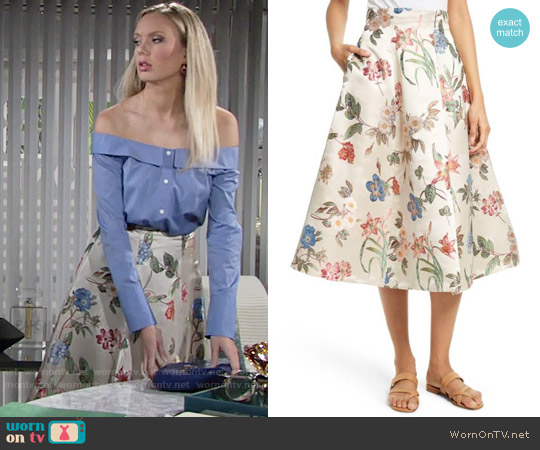 Alice + Olivia Fila Skirt worn by Abby Newman on The Young & the Restless