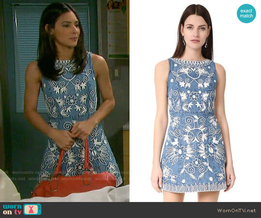 Alice + Olivia Lindsey Dress worn by Camila Banus on Days of our Lives