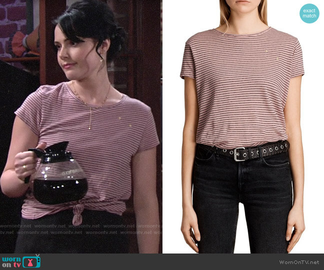 All Saints Anja Tee worn by Tessa Porter (Cait Fairbanks) on The Young & the Restless